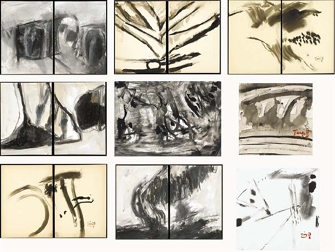 abstract landscape (in 9 parts) by t'ang haywen