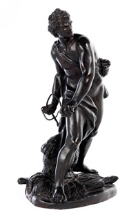 bronzefigur des david by gian lorenzo bernini
