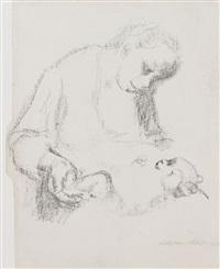 junge mutter mit säugling by käthe kollwitz