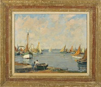 harbor scene by paul emile lecomte
