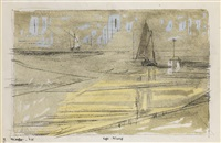 rega: mündung (the mouth of the river rega) by lyonel feininger