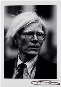 portrait andy warhol by werner krüger