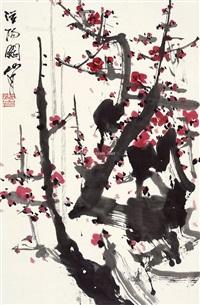 梅花 立轴 纸本 by guan shanyue