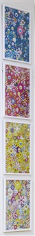murakami, an homage to monogold b; an homage to ikb 1957 b; an homage to yves klein, multicolor b; and an homage to monopink 1960 b (4 works) by takashi murakami