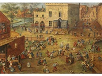 a village kermesse by pieter brueghel the younger