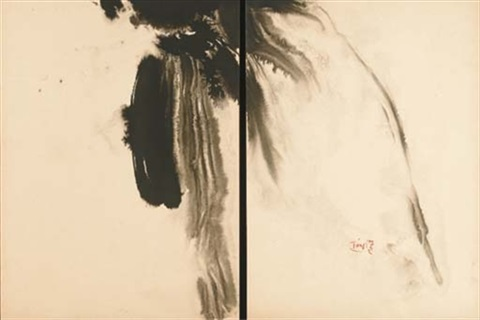 sans titre (diptych) by t'ang haywen
