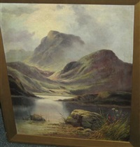 highland landscape (+ another; pair) by campbell