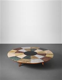 unique and monumental coffee table, designed for casa levi broglio, milan by guglielmo ulrich