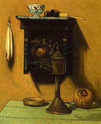 still life with kettle by henri van daalhoff