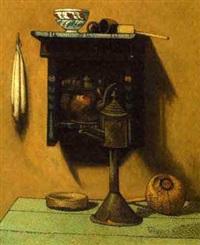 still life with kettle by henri van daalhoff