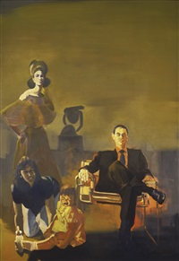 the collector and her family by eric fischl