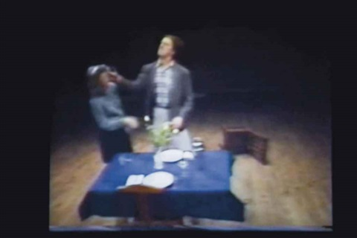 violent incident-man/woman segment, 30 min by bruce nauman