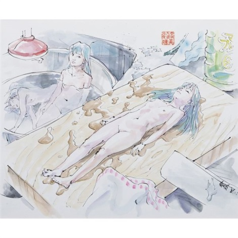 mi mi on the chopping board from edible artificial girls mi mi chan series by makoto aida