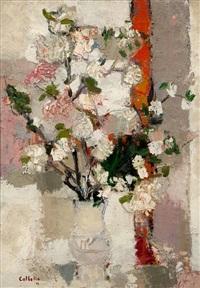 branche de pommier by bernard cathelin