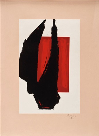 art 1981 chicago print by robert motherwell