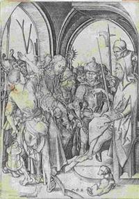 christus vor annas by martin schongauer