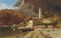 coming ashore, ferrolo, lake maggiore by maximilian von fichard