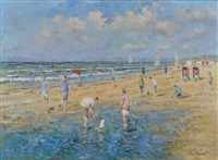plage en hollande by arie van noort