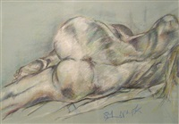 reclining nude by eliaz slonim