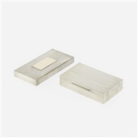deco boxes (pair) by cartier and puiforcat