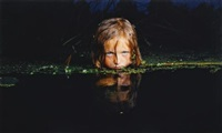 girl in a swamp (from fear series) by oleg kulik