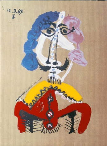 portraits imaginaires le courtisan by pablo picasso