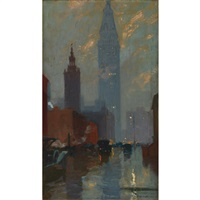 metropolitan tower, new york by charles hoffbauer