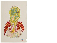 a picasso-inspired half-length figure by paul mccartney