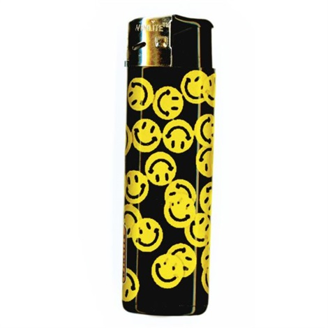untitled smiley face lighter with small smiley faces by nate lowman
