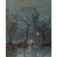 madison square park by charles hoffbauer