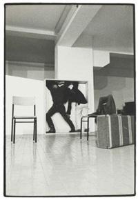 performance di yvonne rainer (con philips glass) al festival music and dance u.s.a. l'attico - roma by claudio abate