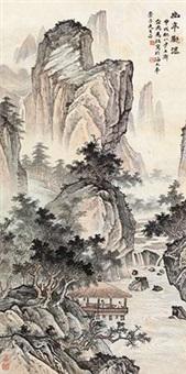 幽亭观瀑 by ma dai