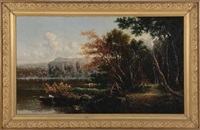 lake of nemi, near rome by george loring brown