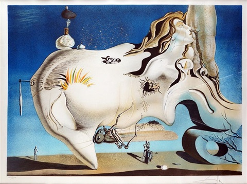 composition surréaliste by salvador dalí