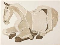 resting horse by elisabeth frink