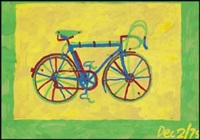 mariposa - bicycle #4 by greg curnoe