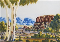 central australian landscape by clem abbott