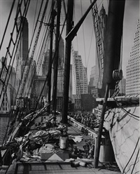 theoline, pier 11, east river, manhattan by berenice abbott