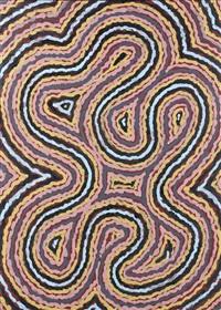le rêve du ver de terre/worm dreaming by clifford possum tjapaltjarri