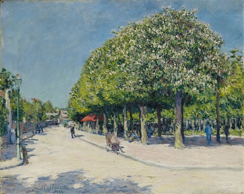 argenteuil fête foraine by gustave caillebotte