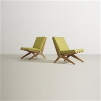 scissor chairs (pair) by pierre jeanneret