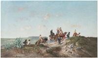 la caravane dans le desert by victor pierre huguet