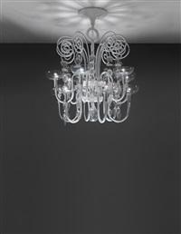 ten-armed chandelier, model no. 5315 by carlo scarpa