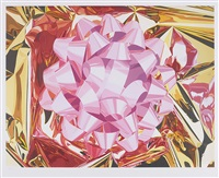 pink bow (from celebration series) by jeff koons