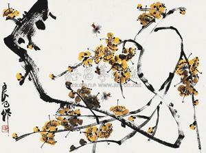 花卉 by qi liangji