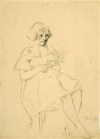 o.t. (damenporträts) (2 works) by wilhelm lachnit