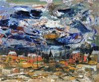 paysage d'automne en flandre by albert saverys