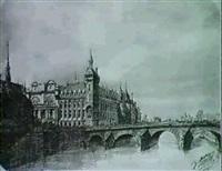 vue de la conciergerie a paris by francois-victor sabatier