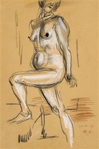 o.t. (stehender weiblicher akt) by wilhelm lachnit