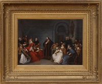 the trial of jan huss by karl friedrich lessing